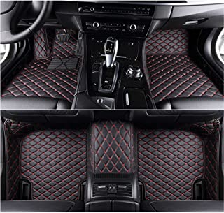 LIGAPLO for Dodge Challenger 2011-2019 Car Floor Mats Custom Fit All-Weather 3D Covered Car mat Carpet FloorLiner Floor Auto Mats (Black and red, 2018)