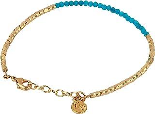 "Münchner Schmuckeria, Bracelet, 14 K gold-plated, ""Elegant Stone""."
