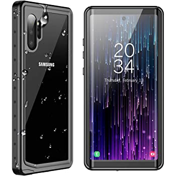 SPIDERCASE for Samsung Galaxy Note 10+ Plus Waterproof Case, Built-in Screen Protector Fingerprint Unlock with Film, Shockproof Full Body Cover Waterproof Case for Samsung Galaxy Note 10+ Plus 5G 2019