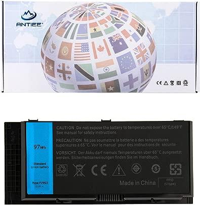 ANTIEE 97Wh FV993 FJJ4W Akku  9-Cell  Compatible Dell Precision M4600 M4700 M4800 M6600 M6700 M6800 Series X57F1 PG6RC V7M28 KJ321 WD6D1 4HJXX T4DTX 33F0D FJJ4W 11 1V 7800mAh