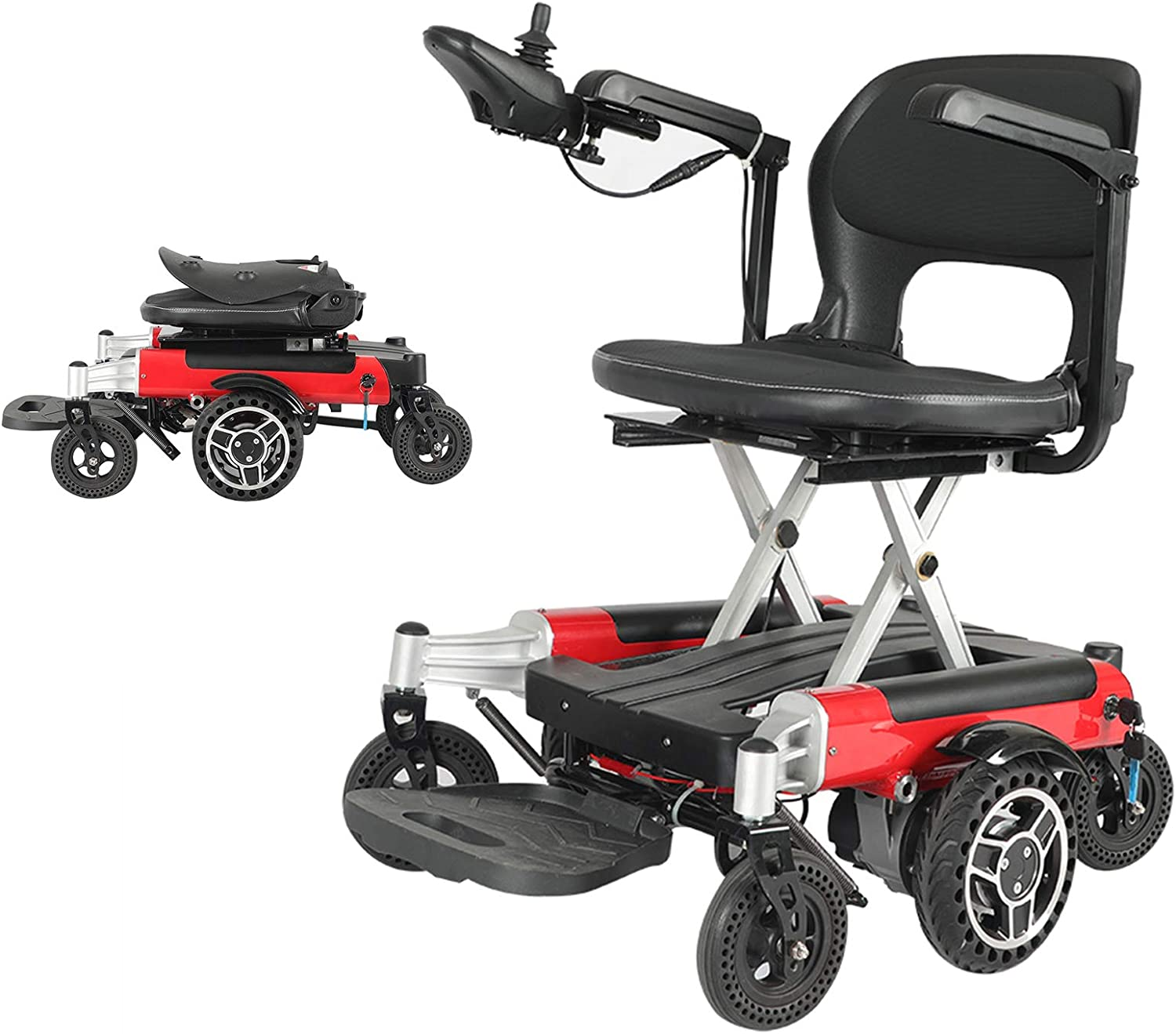 FC-Winter Las New products, world's highest quality popular! Vegas Mall Fold Travel Lightweight 360° Wheelchair Electric