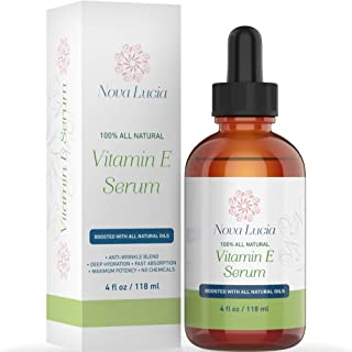Organic Vitamin E Oil For Skin Face Hair Oil For Hair Growth Acne Scar Treatment Stretch Mark Removal Moisturizer Hair Skin And Nails Vitamins compare with Vitamin E Cream Acne Scar Remover Cream 4 oz