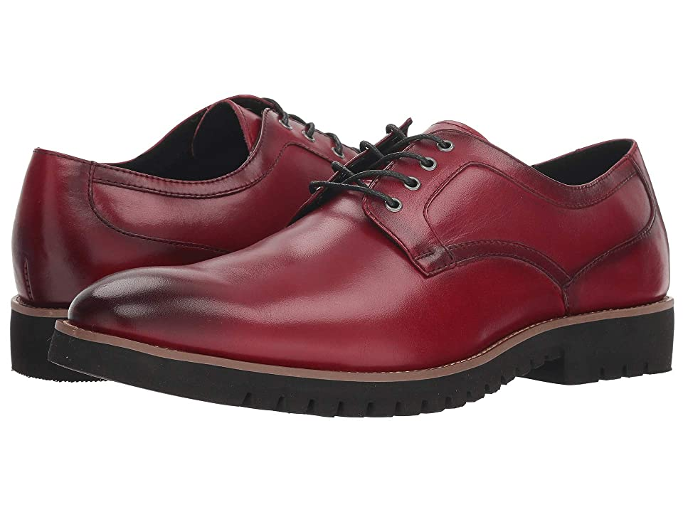 Stacy Adams Barclay Plain Toe Lace Up Oxford (Cranberry) Men