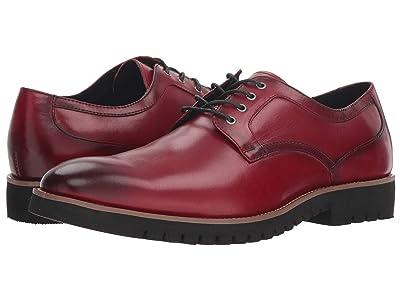 Stacy Adams Barclay Plain Toe Lace Up Oxford (Cranberry) Men