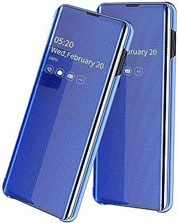FanTing Case for Samsung Galaxy A30,Transparent mirror flip + rear hard TPU case, non-slip dustproof smart phone case,for ...