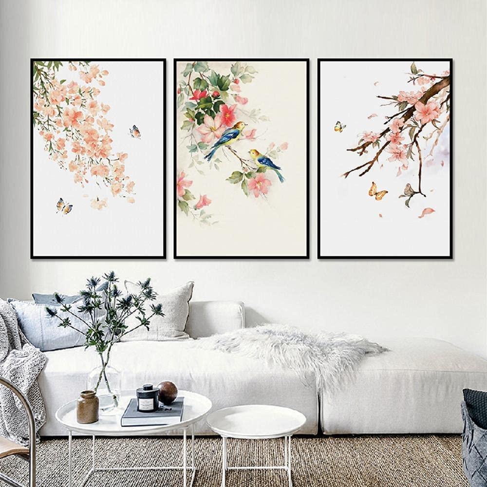 Canvas pictures favorite Nordic Abstract Bird Flower Butterfly Scenery Pa Memphis Mall