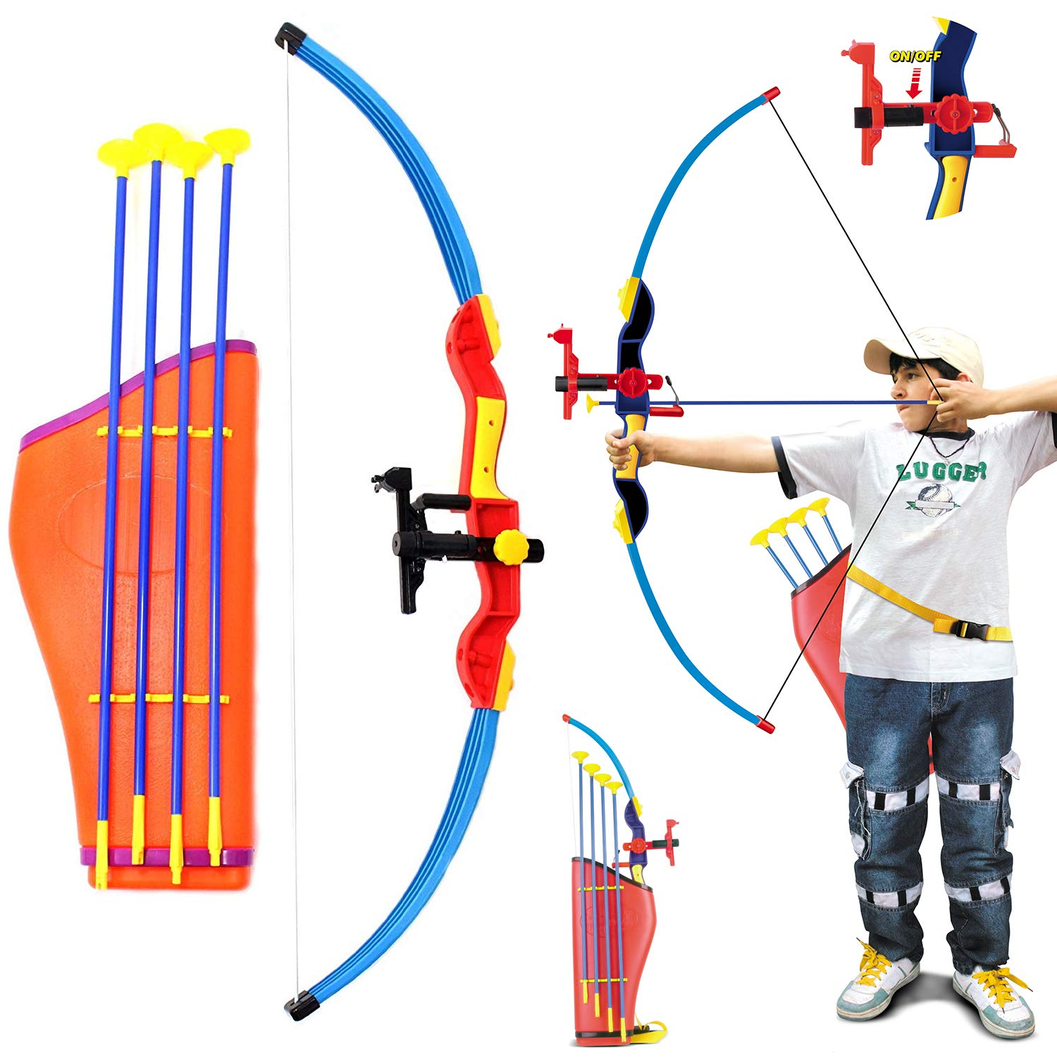 Archery Sports Series Toy Replacement Arrows Children Youth Bow Suction Cup Arrows Outdoor Sports Shooting Game Toy SFNTION 12Pcs Sucker Arrows