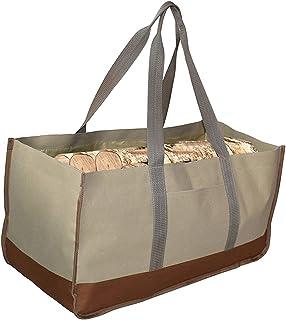 2 Log Carrier Bag,Firewood Storage Bag,Portable Large Capacity Oxford Cloth Logs Carrier Bag Twigs Branch Storage Bag