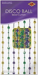 Beistle 50377-GGP Disco Ball Bead Curtain, 6-Feet 6-Inch by 24-Inch