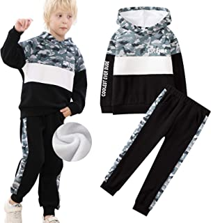 Sponsored Ad - Boys Clothes Kids Hooded Youth Sweatshirt and Pants Fleece Pullover Tracksuit 2 Piece Set 6-11 Years