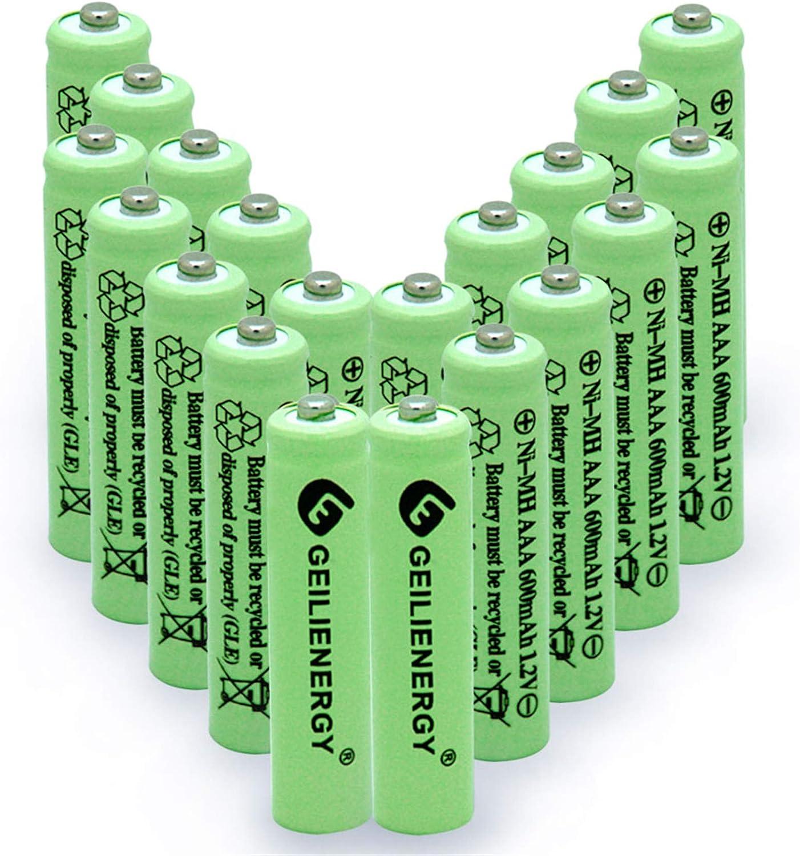online shop Max 79% OFF GEILIENERGY Solar Light Batteries AAA 1.2V Triple 600mAh A NIMH