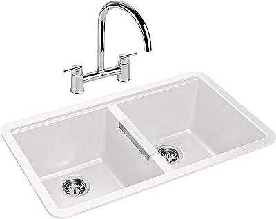 Rangemaster PAR3641CW/ Paragon Kitchen Sink, White