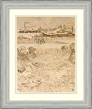 Framed Wall Art Print Arles: View from The Wheatfields by Vincent Van Gogh 19.50 x 23.12