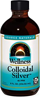 Source Naturals Wellness Colloidal Silver 45 ppm Supports Physical Well Being - 8 Fluid oz