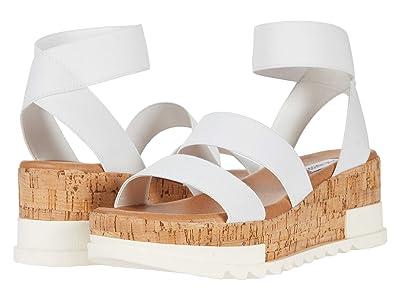 Steve Madden Bandi Wedge Sandal (White) Women