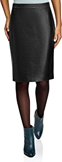 Ultra Women's Faux Leather Pencil Skirt