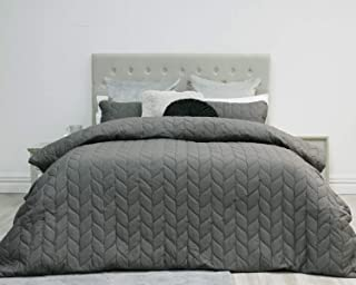 MARQUESS Theo Heat Pressed Duvet Cover Set – 3-Piece, Soft& Comfy Bedding- Wrinkle Resistance Quilt Embossed Bed Cover