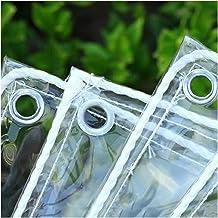 LIANGJUN transparant zeildoek, PVC kunststof zeildoek, waterdichte stofdichte buitenhoes, dikte 0,5 mm, 550 g/m², aangepas...