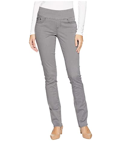 Jag Jeans Peri Pull-On Straight Leg Pants in Bay Twill (Grey Streak) Women