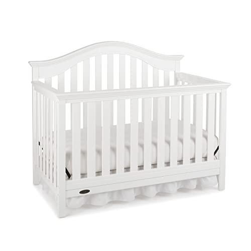 Graco Bryson 4-in-1 Convertible Crib, White, Easily Converts to Toddler Bed Day Bed or Full Bed, Three Position Adjustable Height Mattress, Some Assembly Required (Mattress Not Included)