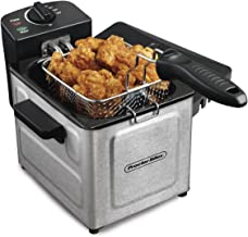 Proctor Silex Deep Fryer with Frying Basket, 1 to 4 Servings / 1.5 Liter Oil Capacity, Professional Grade, Electric, 1200 Watts, Stainless Steel (35041)