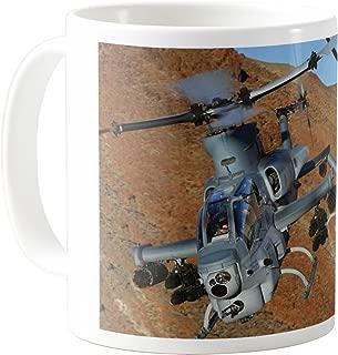 AquaSakura - Viper Ah 1z Bell Attack Helicopter Us Marine Zulu Cobra - 11oz Ceramic Coffee Mug Tea Cup