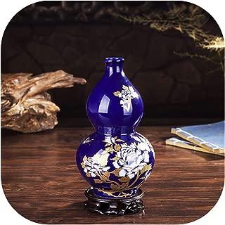 Luxury Creative Chinese Antique Porcelain Cloisonne Vase Home Decoration Crafts Ancient Palace Red Ceramic Vase Figurines Decor,Style 1
