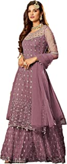 Ruchi creation Sharara Salwar Suit For Women Heavy Embroidery And Stone Work With Dupatta Net With Four Side Lace
