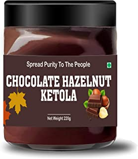 Leanbeing - Chocolate Hazelnut Ketola (220g) - No Added Sugar - A Healthy & Delicious Option for Those Who Love Choco-Haze...