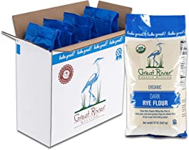 Great River Organic Milling, Specialty Flour, Dark Rye Flour, Stone Ground, Organic, 22 Ounces (Pack of 4)