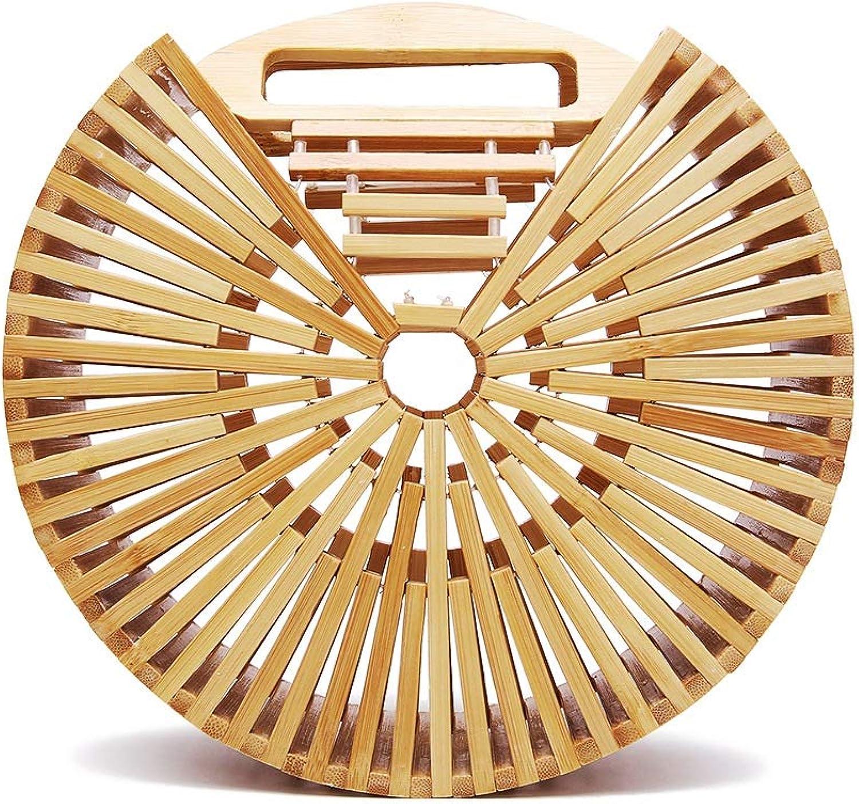 Zhangcaiyun Sommer-Strandhandtasche Vintga Bamboo Handtasche Handmade Tote Bambus Bambus Bambus Geldbörse Stroh Strandtasche für Frauen (Farbe   Primary Farbe, Größe   21  21  7.5cm) B07PLMWBPJ  Angenehmes Gefühl 6fd084