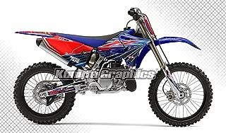 Kungfu Graphics Custom Decal Kit for Yamaha YZ125 YZ250 2015 2016 2017 2018, Red Blue