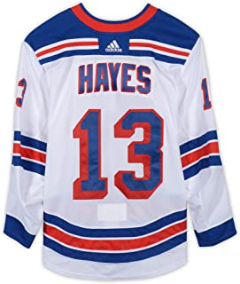 Kevin Hayes New York Rangers Game-Used #13 White Jersey vs. Vegas Golden Knights on January 8, 2019-1994 Stanley Cup Anniversary Night - Size 58 - Fanatics Authentic Certified