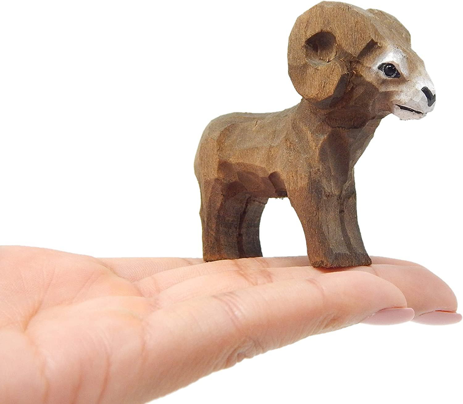 Big Our shop OFFers the best service Horn Ram Figurine Free shipping anywhere in the nation Statue Decor Small Goat Mountain Sc Animal