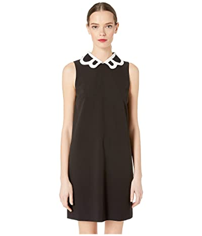 Boutique Moschino Collared Tank Dress (Black/White) Women