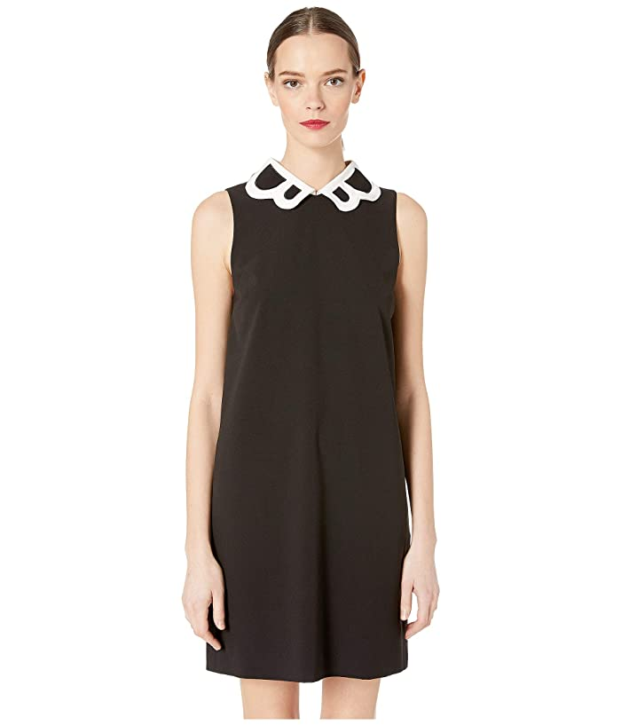 Boutique Moschino Collared Tank Dress (Black/White) Women