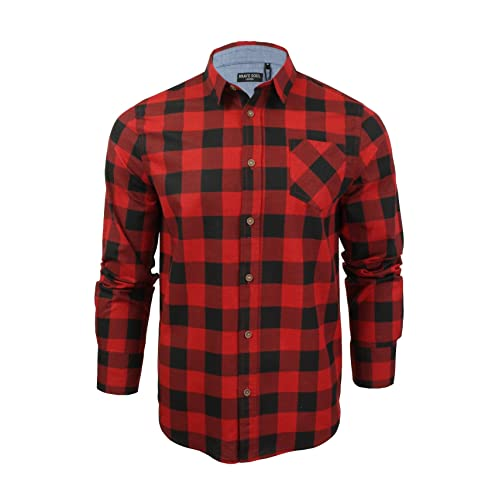 0f2e946a9 Red and Black Checked Shirt: Amazon.co.uk