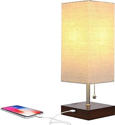 LE Lámpara de Mesa, LED Luz Mesita de Noche, E27, Pantalla ...