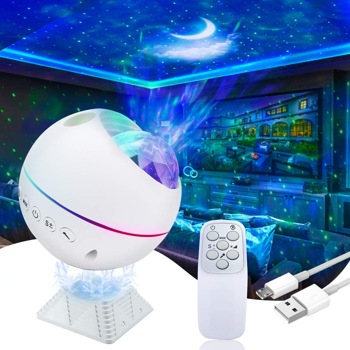 Galaxy Projector AKEPO 3 in 1 Night Be for Light Branded Large discharge sale goods Star