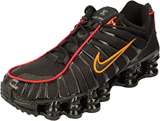 Nike Shox TL Mens Running Trainers CV1644 Sneakers Shoes (uk 8 us 9 eu 42.5, black magma orange 001)