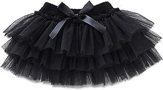 Baby Girl Tutu Black for Newborn Infant Toddler Tulle Skirt 0 to 24 Months
