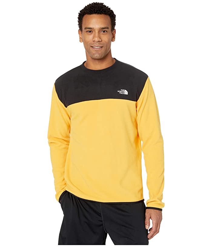 The North Face  TKA Glacier Pullover Crew (TNF YellowithTNF Black) Mens Clothing