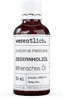 wesentlich. Zedernholzöl - ätherisches Öl - 100% naturrein Glasflasche - u.a. für Duftlampe und Diffuser 50ml
