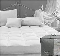 Gaveno Cavailia Comforting & Luxurious Premium White Goose Feather Down Mattress Topper, Super King, Cotton