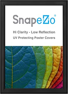 SnapeZo Poster Frame 23x33 Inches, Black 1.2 Inch Aluminum Profile, Front-Loading Snap Frame, Wall Mounting, Premium Series