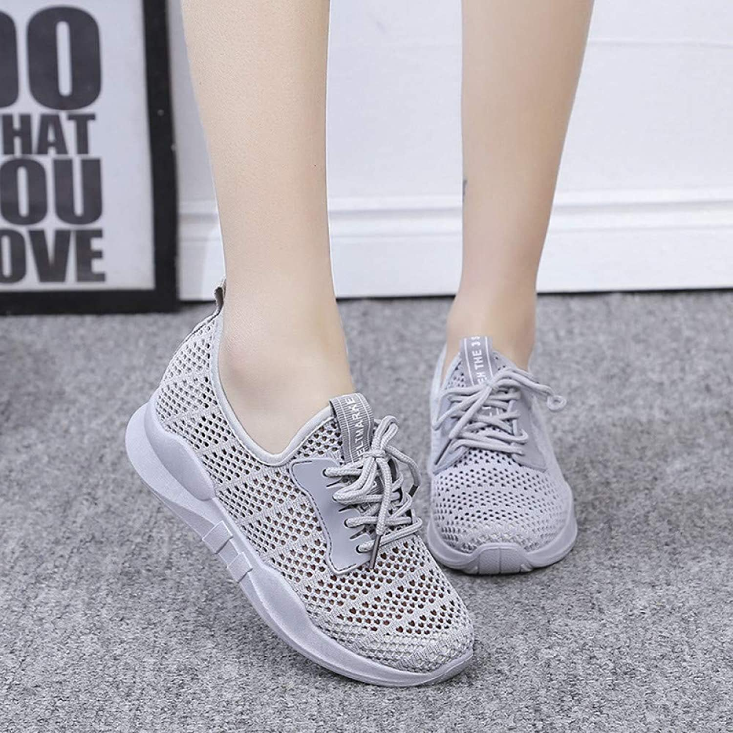 Hasag Sneakers New Women's Net shoes Flying Woven Cloth Perforated Breathable Casual shoes Couple Models Men's shoes