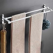 Dubbel handdoekrek, handdoekhaak, handdoekrek met haak 60cm handdoekrek, handdoekrek, 60cm handdoekstang