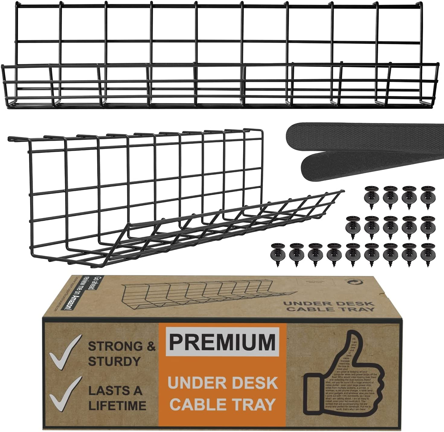 Scandinavian Hub Under Max 71% OFF Desk Cable - Set Management Shipping included Trays Black
