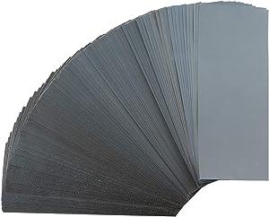 70pcs Sandpaper, Sanding Paper 120 to 3000 Grit Wet Dry Sandpaper Assortment, 9 x 3.6 Inch Sandpaper for Wood Furniture Finishing, Metal Sanding and Automotive Polishing