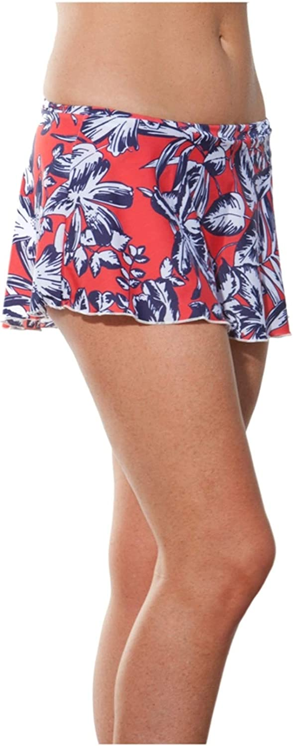 bluee Sky Swimwear Tropical Isle Flirt Skirt Cover Up (Cover Up Only) Large Red